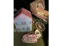 Baby Annabelle wardrobe pram and accessories