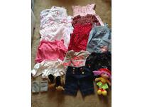 Baby Girls 6-9 months clothing bundle Sleeping bags, dress, etc Will post