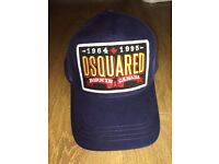 Dsquared2 Baseball Cap Born In Canada NAVY and Red