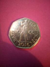 50p coin battle of Hastings £150