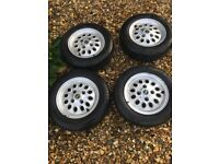 CLASSIC MINI ALLOY WHEELS WITH TYRES
