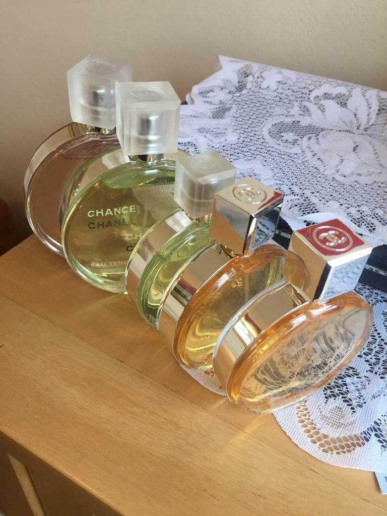 Joblot Of authentic Chanel Chance perfumes