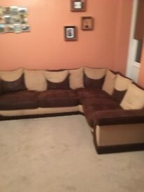 Corner sofa & swivel chair