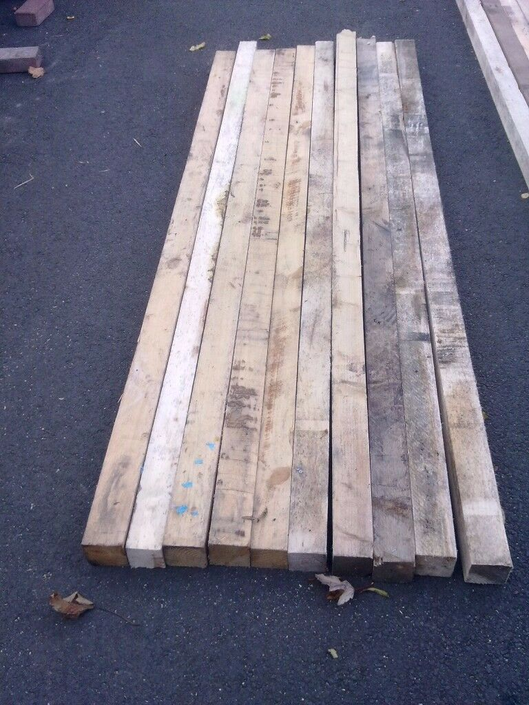 L@@K: 10 X LENGTHS OF RECLAIMED TIMBER ( APPROX 7ft LONG)(APPROX 3X3) FOR SALE. COULD DELIVER.