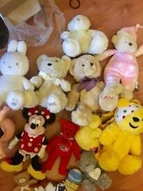 Selection of cuddly toys and teddies