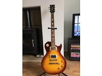 Harley Benton SC-550 Faded Tobacco Flame - Les Paul Style Guitar - Professional set up