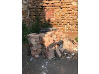 building bricks - rubble for filling
