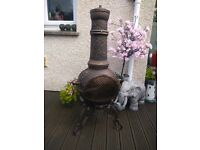 Large solid full cast iron chiminea. Chimenea . Log wood burner . Fire pit . Brand new in box