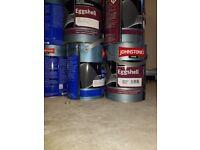 Johnstones trade white oil eggshell 3 x 5 litre cans