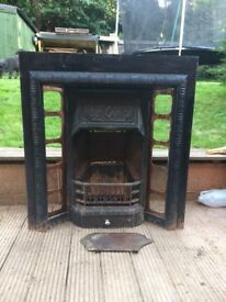 1905 Original Cast Iron Fireplace