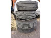 Set Of 195/55/16 run flat tyres