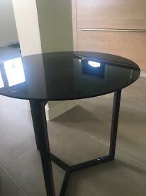 Next Black glass side /lamp table