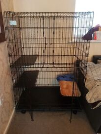 Large Animal Crate / Cage Double Doors