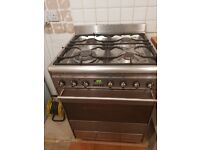 Cooker - Smeg dual fuel electric oven and 4 ring gas hob