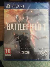 PS4 Battlefield 1 Sealed, Star Wars Battlefront & Metal Gear Solid Phantom Pain