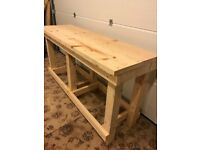 Solid wooden workbench