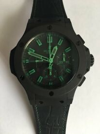 Pre-owned All Black Big Bang Green great condition