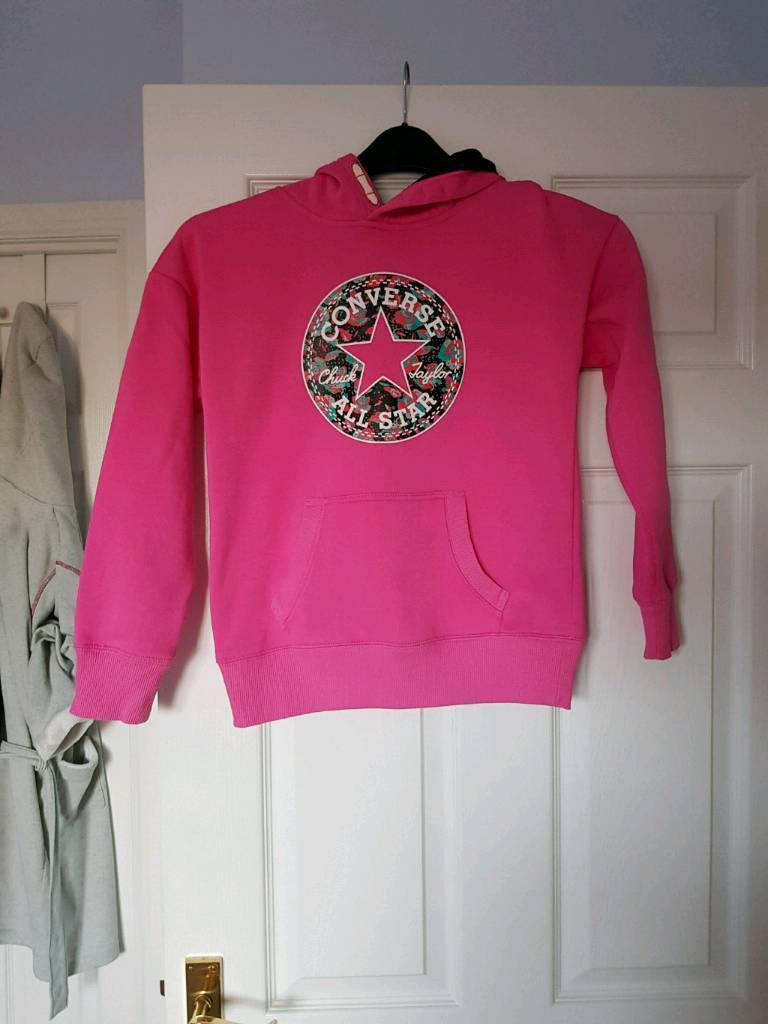 Converse pink hooded jumper