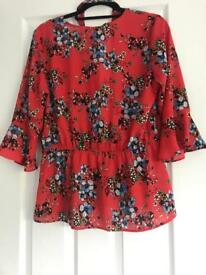 Flowered Choker style Blouse
