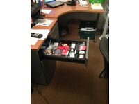 Good Solid desk with two side units