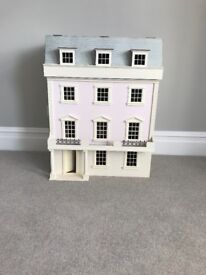 Girls Dolls House with furniture. Bathroom bedroom and a kitchen aga and fireplace all included