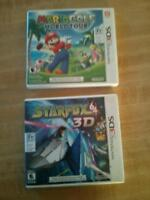 3ds games for sale, Mario golf and star fox 64 3ds