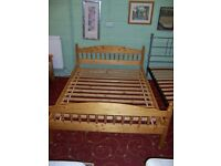 Wooden double bed frame at Cambridge Re-Use (cambridge reuse)