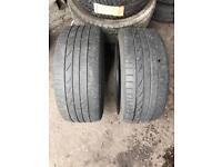 2 x Bridgestone Potenza Run Flat 225 40 18 225/40/18 R18 88W Tyre