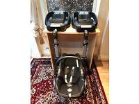 Maxi-Cosi Cabriofix baby car seat (£45) & Maxi-Cosi Isofix EasyFix Base x 2 (£70 each)