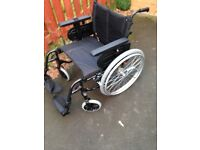 Invacare Action 4NG Lughtweight Foldable Self Propelling Wheelchair HD and padded cushion