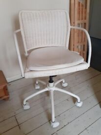 Cane swivel office chair