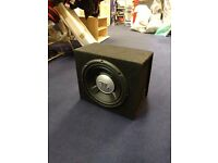 JBL car subwoofer - 12in bass box and amp