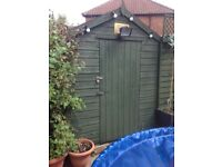 Garden shed 7ft 8 ; x 5ft 5, outdoor storage for lawnmower tools toys furniture etc
