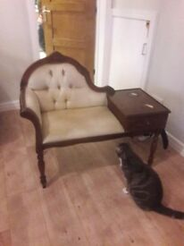 SOLD - Vintage telephone seat/chair