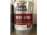 Dulux Trade Weathersheild Exterior Masonry Paint 15L - colour : BLUE PORCELAIN