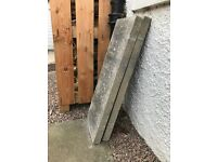 Grey concrete slab steps and edging for sale