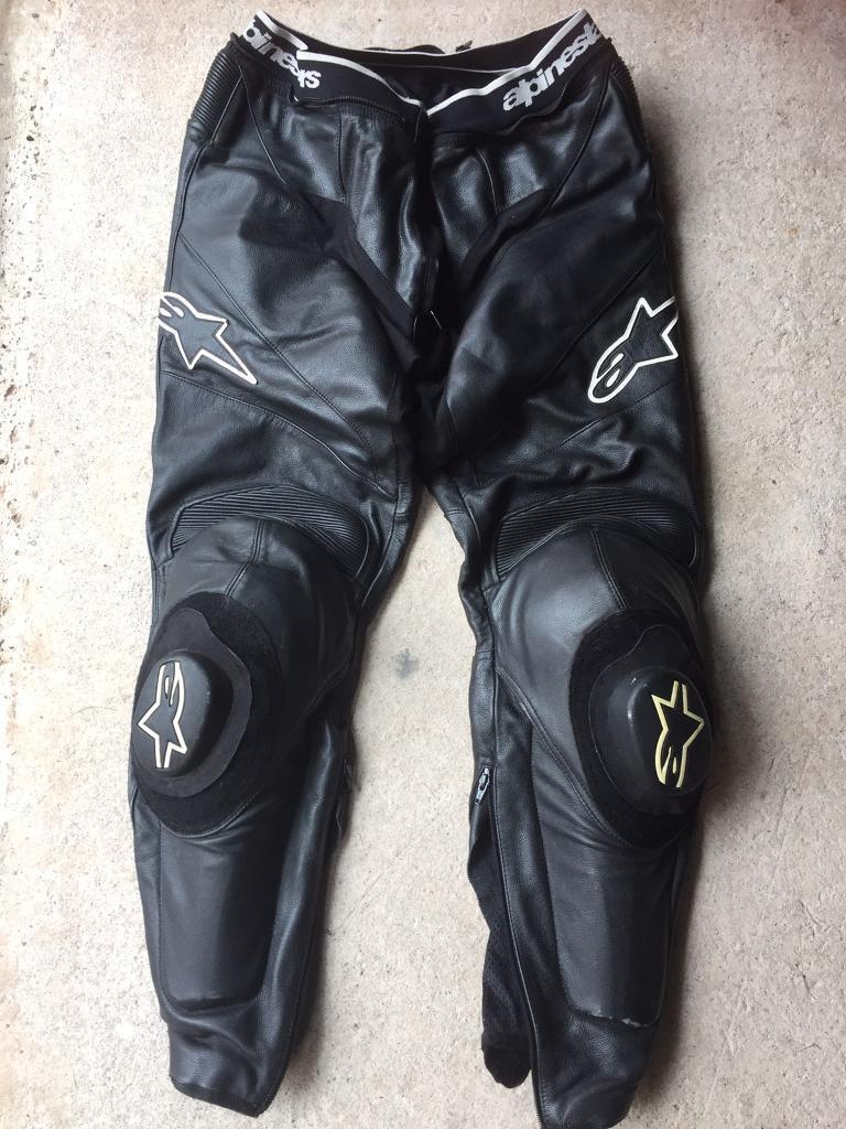 alpinestars motorcycle leathers trousers