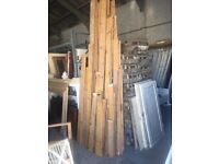 Old reclaimed pine floorboards