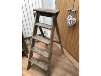 Set of Wooden Vintage Ladders