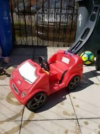 Push along car with parent handle £10