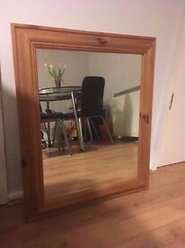 Wooden mirror - house clearance