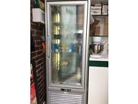 Commercial Fridge Large, glass all around, ideal for cake display excellent working order.