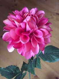 Artificial Flowers Red/ Pink (x 5 stems)