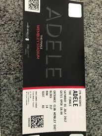 Adele Ticket x 1, Sat Night at Wembley in Club Wembley tier