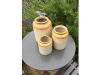 Old stoneware storage jars