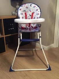 Sailboats high chair