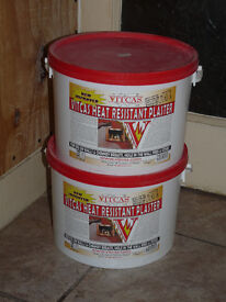 New Unopened Vitcas Heat Resitant Plaster 2x10kg Tubs - For Around Wood Burning Stove