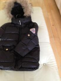 Pyrenex boys navy black coat. Age 4 more a 2 to 3. £100