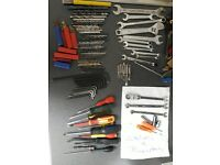 Bundle of various tools including snap on & blupoint