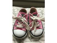 Pink converse infant size 4